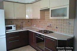 Кухня 8 кв м бежевая с венге (4 фото + цена и отзыв)