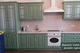 Зеленая кухня с газовой колонкой. Сборка своими руками пошагово (32 фото)