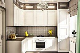 Кухни дизайн проекты фото 9 кв метров