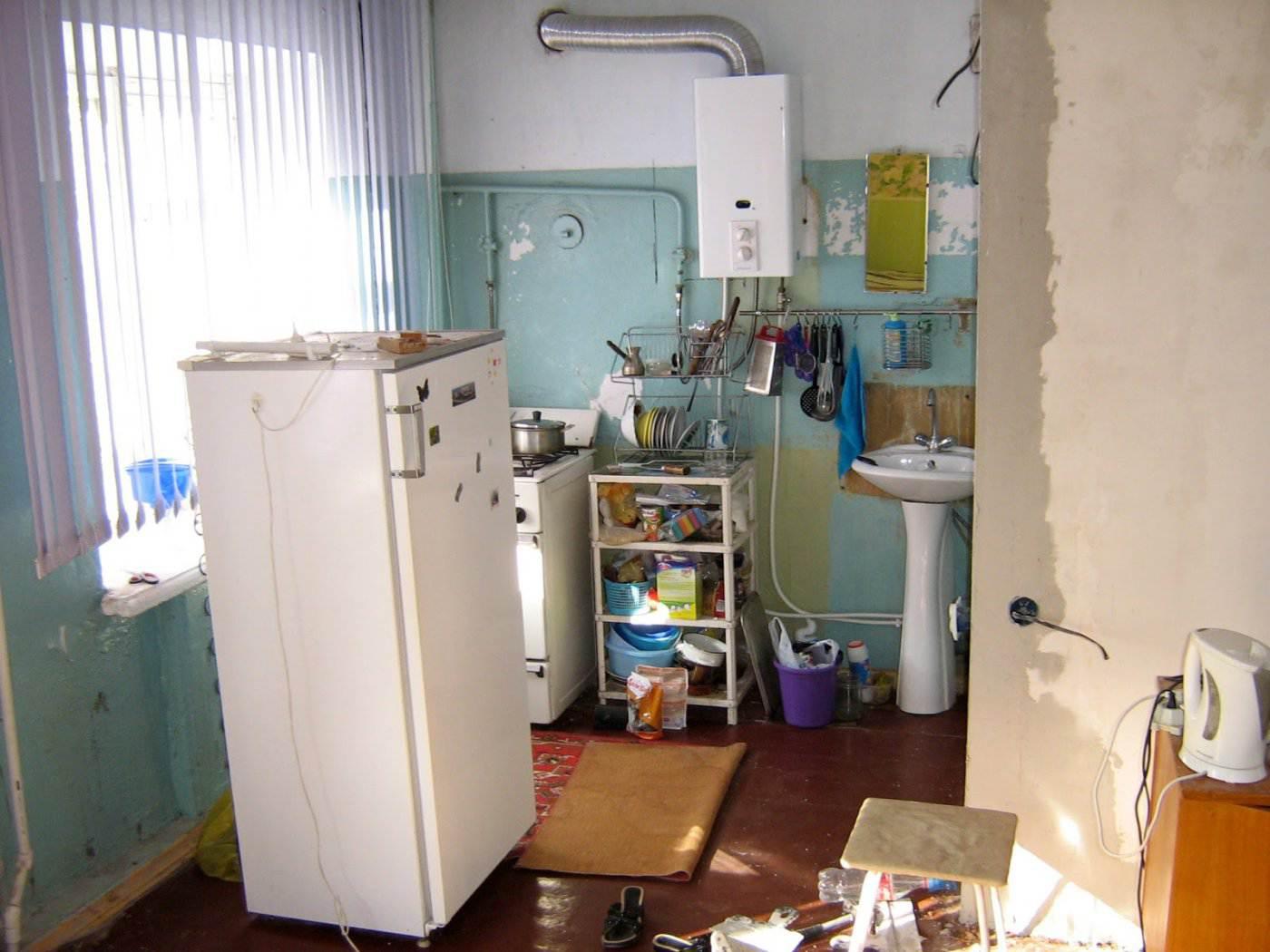 схема мебели на кухне хрущевка