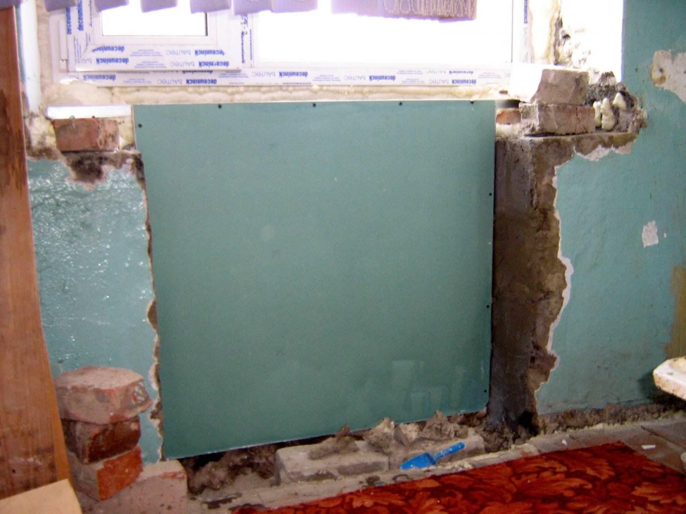 Холодильник в стене