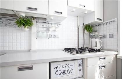 Дизайн и планировка белой кухни 5 кв м (9 фото)