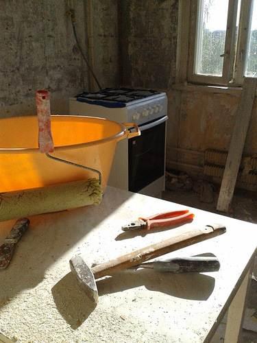 Дешевый ремонт кухни своими руками фото