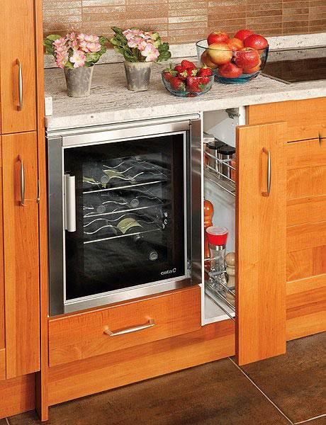 Выдвижные ящики на кухне, хранение (35 фото)