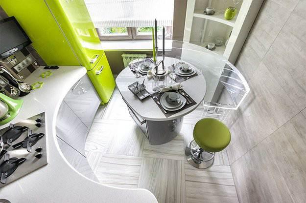 Угловая кухня в стиле хай тек 30 фото