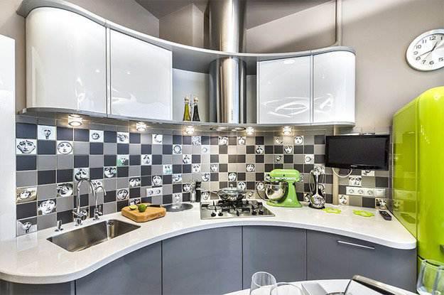не большая кухня в стиле хай тек фото