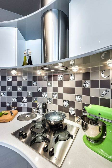 Стильная угловая кухня в стиле хай-тек (30 фото)