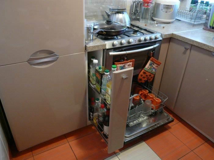 Дизайн кухни 4 кв м фото с