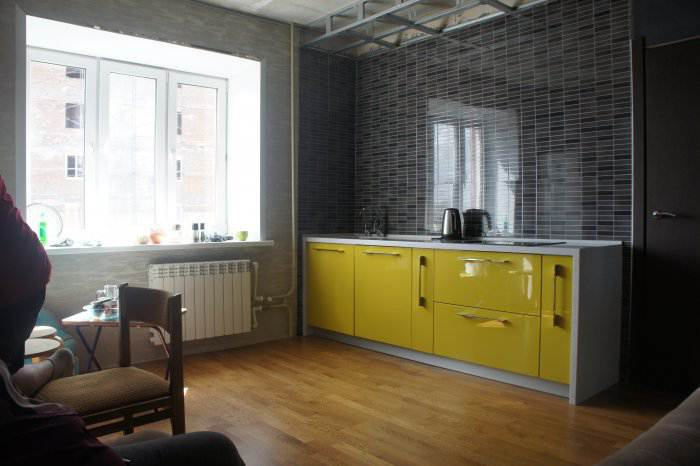 кухня-столовая дизайн фото 16 кв.м