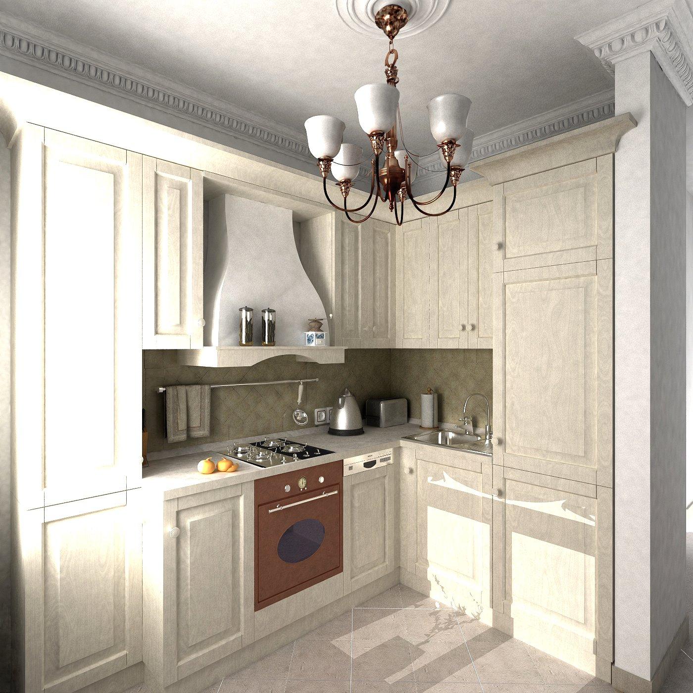 угловые кухни в стиле прованс фото