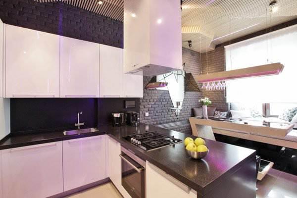 Дизайн-проект  параметрической кухни в стиле Sci-Fi (11 фото)