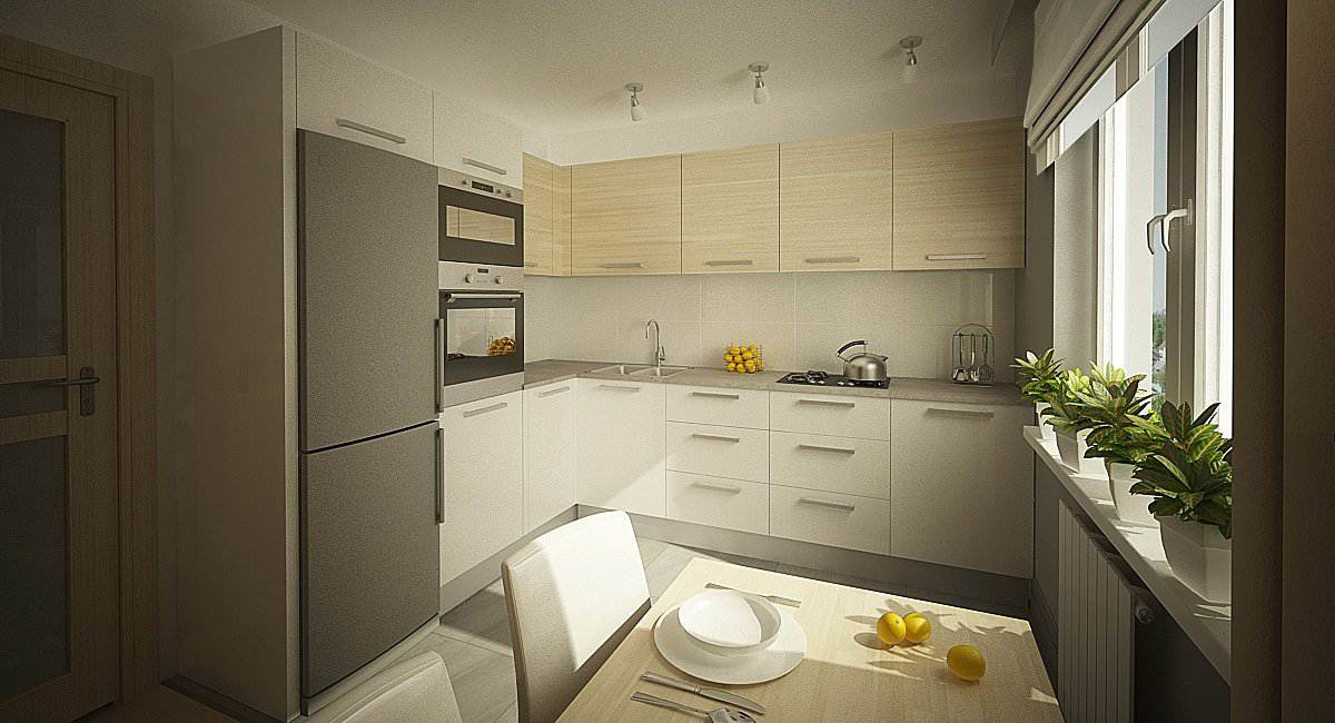 Дизайн белой кухни 10 кв м фото
