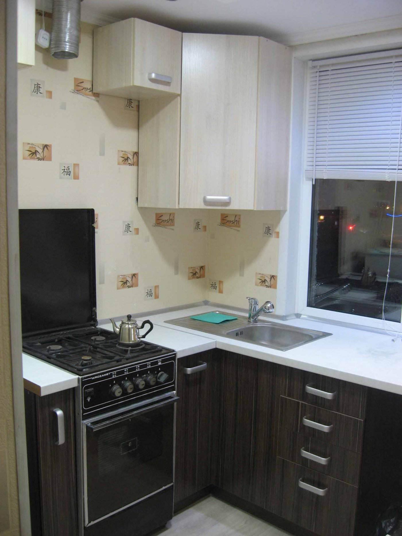 и дизайн угловой кухни 5,5 кв.м (18 фото