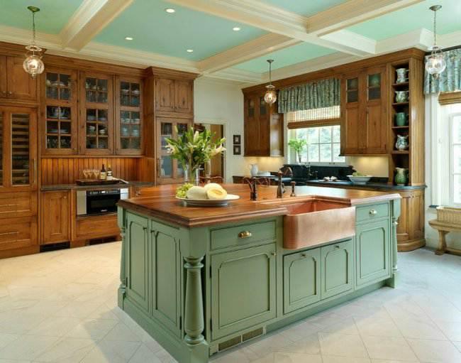 Напольная плитка для кухни: правила выбора, дизайн и укладка (24 фото)