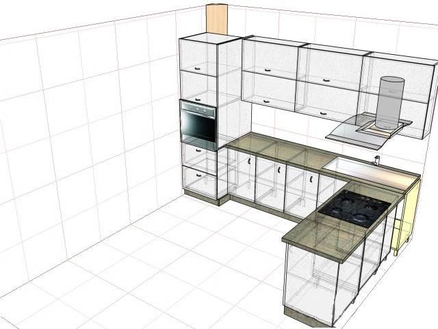 Дизайн угловой белой кухни объединенной с балконом (9 фото)