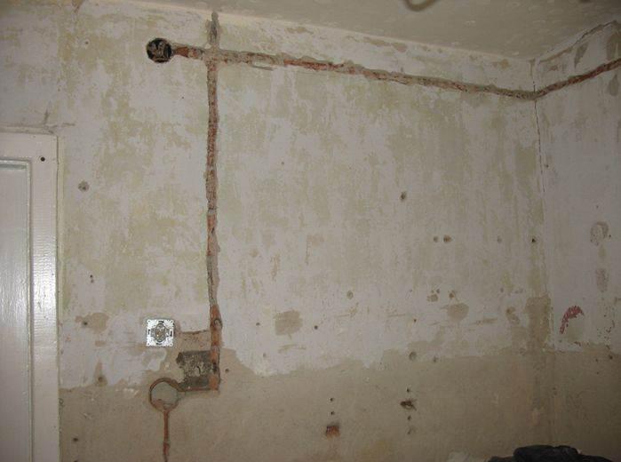 Ремонт стен на кухне поэтапно