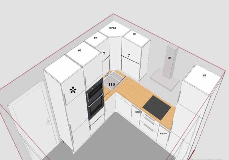 Дизайн комнаты г образной