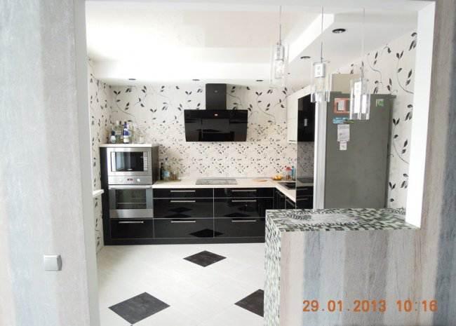 фото г образной кухни в доме