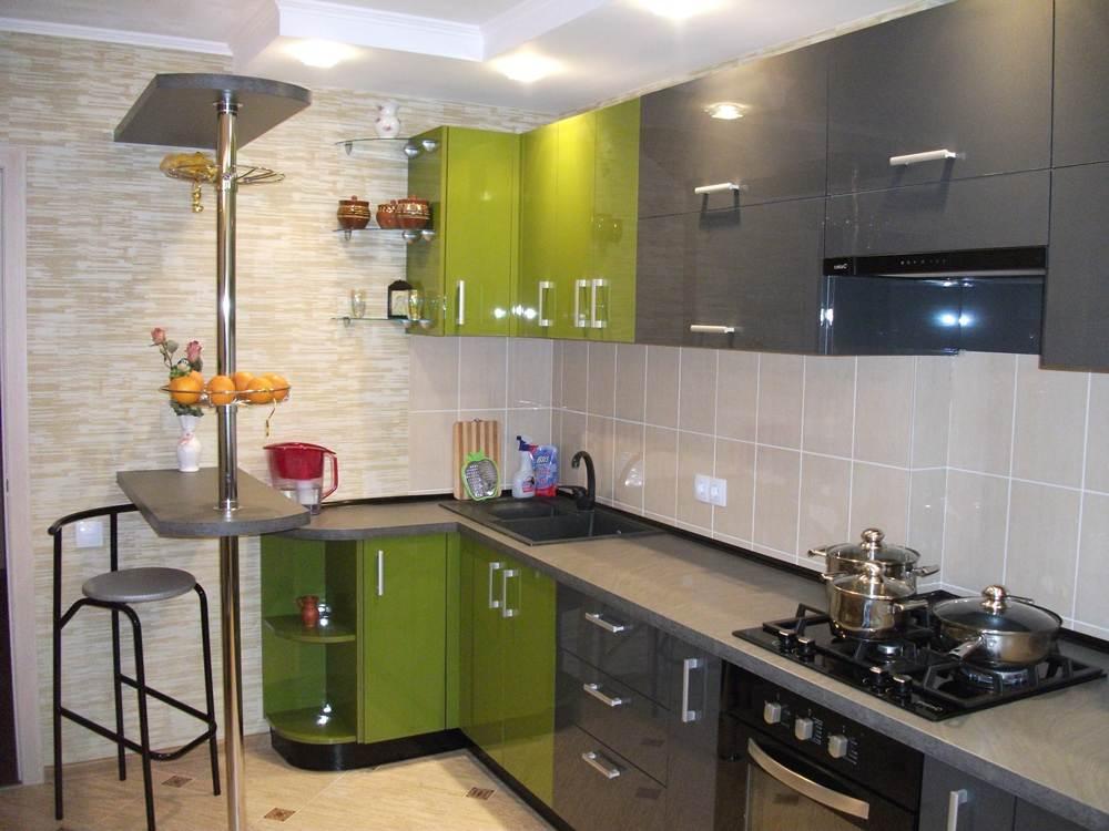Дизайн кухни с барной стойкой 12 кв м