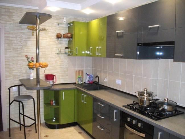 Все этапы ремонта угловой кухни 11 кв.м (46 фото)