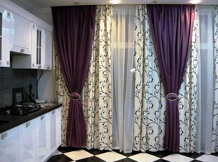 Дизайн штор для кухни 62 фото