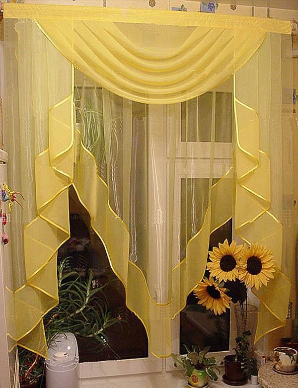 Дизайн штор для окна с дверью фото