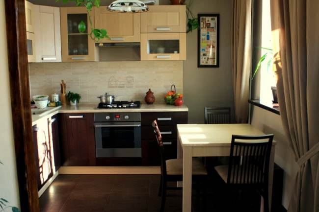 Дизайн кухни цвета венге (19 фото)