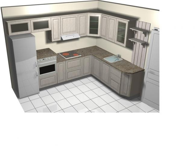 Как распланировать прямоугольную кухню 10 кв м?