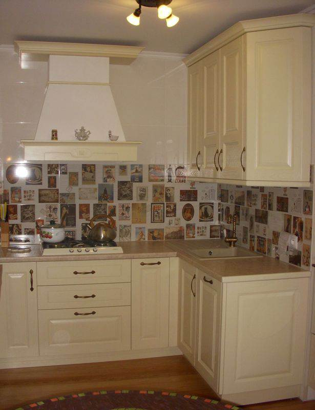 Дизайн кухни из ясеня от ГеосИдеал (4 фото)