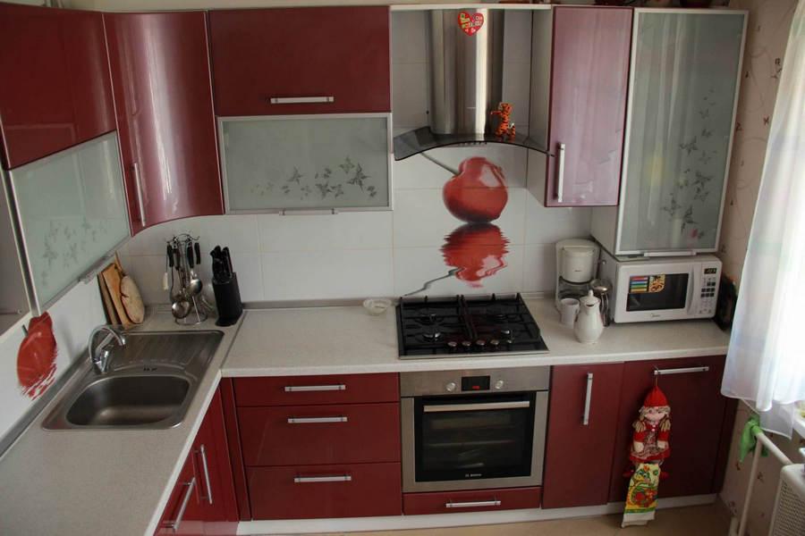 Дизайн кухни угловой 9 кв м фото