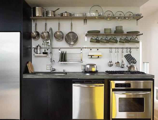 Рейлинги для кухни в интерьере