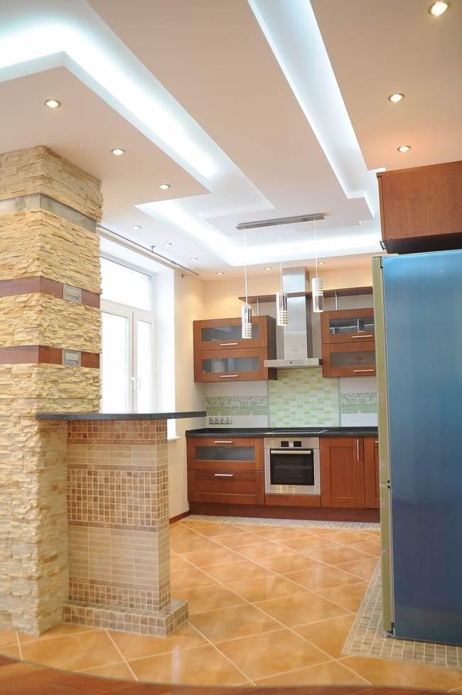 Классическая кухня 10 кв.м класса люкс (5 фото)