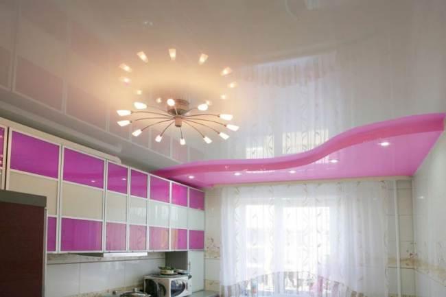 Какой натяжной потолок можно устанавливать на кухне?