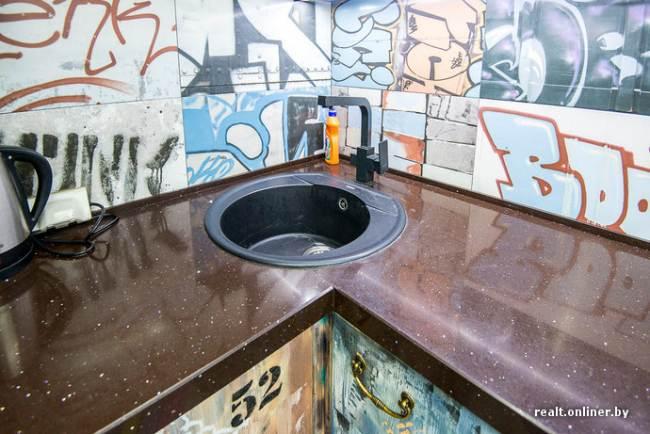 Дизайн кухни 9 кв.м в стиле сказочного лофта (10 фото)