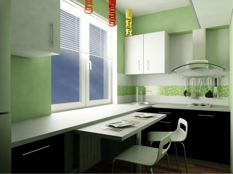 интерьер кухни с барной стойкой с фото