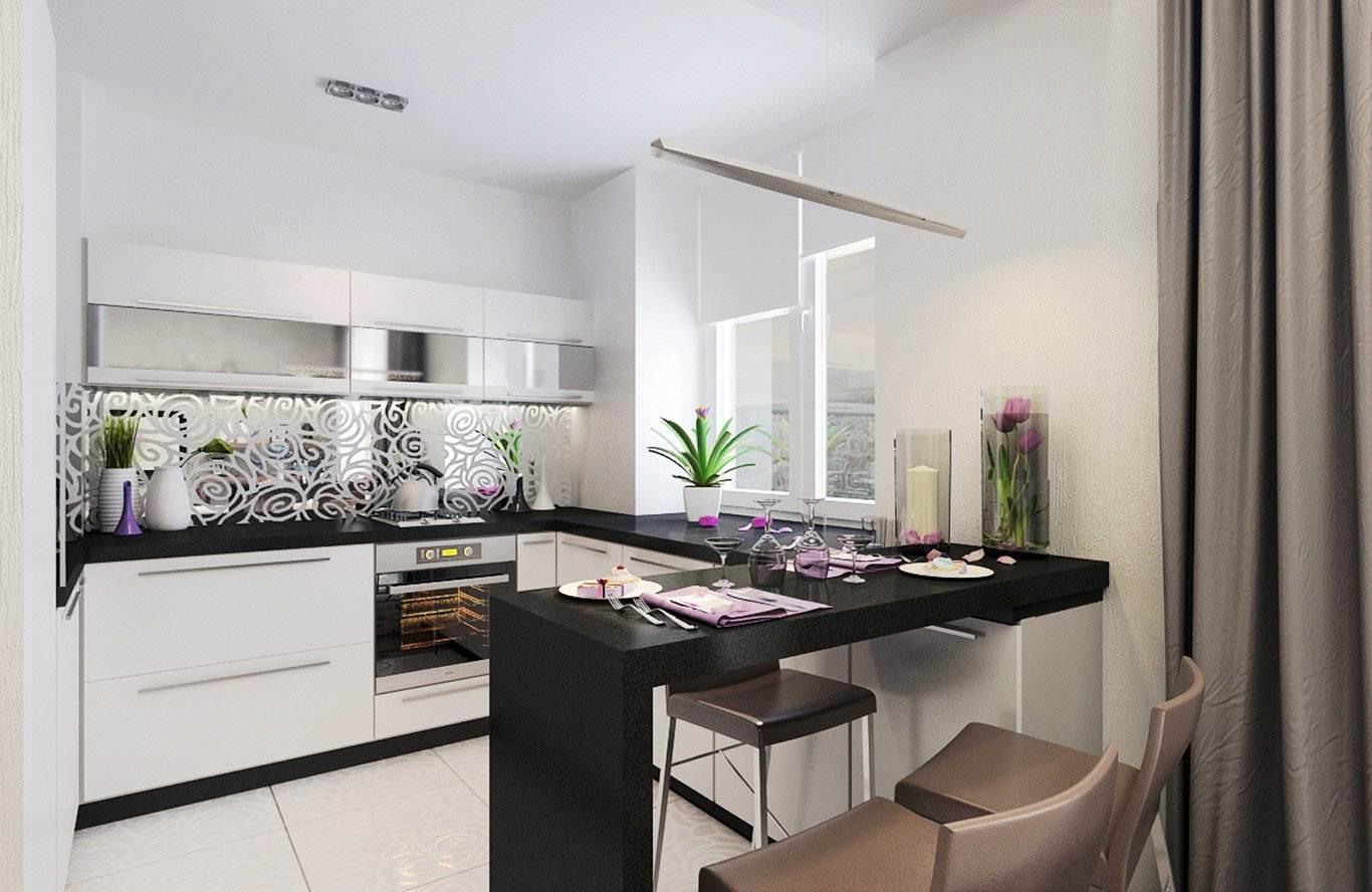 кухни с барной стойкой 45 фото реальных интерьеров