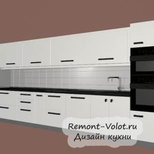 Современная белая прямая кухня 28 кв.м. за 4100$