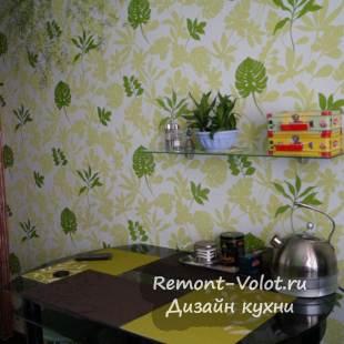 Дизайн черно-зеленой современной кухни 7 кв.м за 2000$
