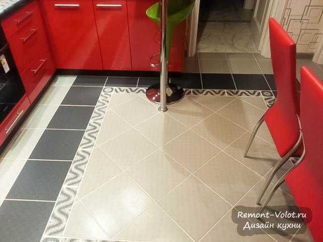 Дизайн красной угловой кухни 10 кв.м. с барной стойкой (6 фото)
