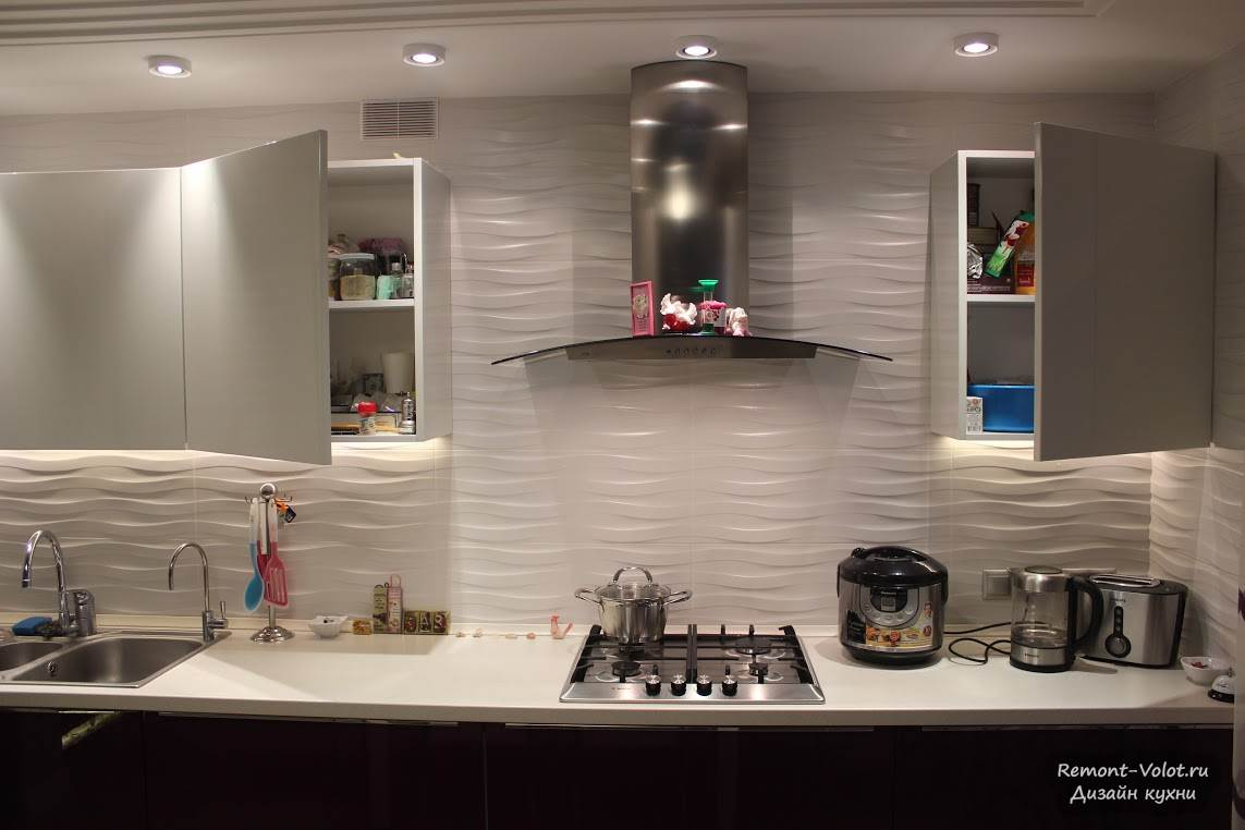 Дизайн кухни фиолетовой фото