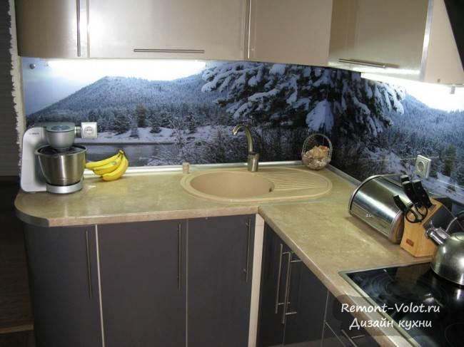 Подробное описание ремонта кухни 7 кв.м в Минске (54 фото)