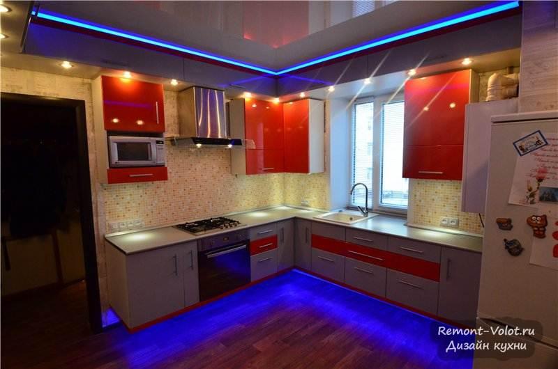 Фото кухни с подсветкой своими руками