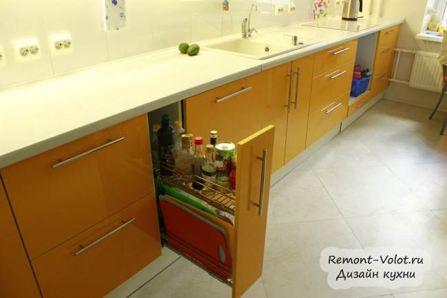 Кухня длинной 6 метров дизайн