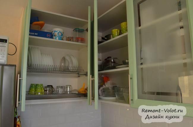 Высокий шкаф 90 см с сушкой для посуды
