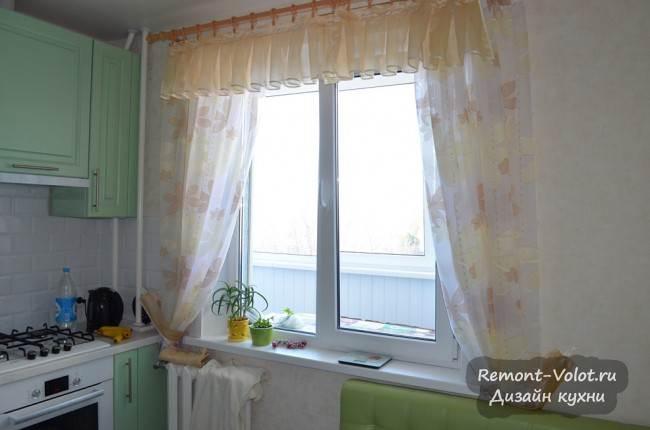 Занавески с ламбрекеном на кухне