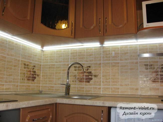 Светодиодная лента для кухни своими руками фото