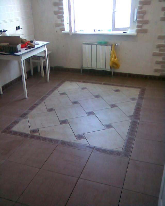 Модульная плитка на кухне