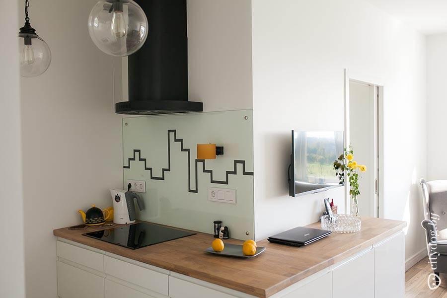 Кухня 4.5 метра дизайн фото
