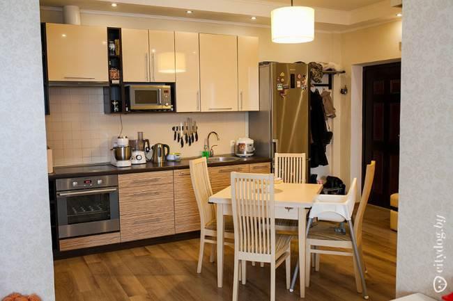 Опыт совмещения кухни и прихожей в однокомнатной квартире