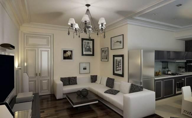 Дизайн потолка на кухне в 25 фото